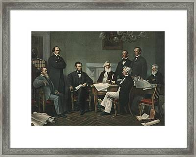 Lincoln's Cabinet Framed Print by Francis Bicknell Carpenter