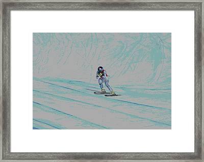 Lindsey Vonn Framed Print by David Parsons
