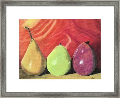 Line Up Framed Print by Jan Amiss