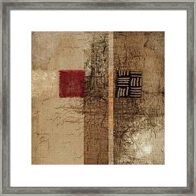 Linen Weave Framed Print by Carol Leigh