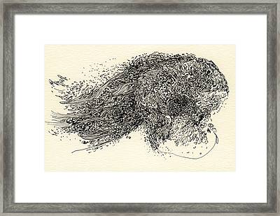 Lines - #ss13dw008 Framed Print by Satomi Sugimoto