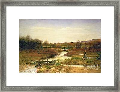 Lingering Autumn Framed Print by Sir John Everett Millais