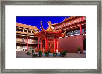 Lingyen Mountain Temple 32 Framed Print by Lawrence Christopher