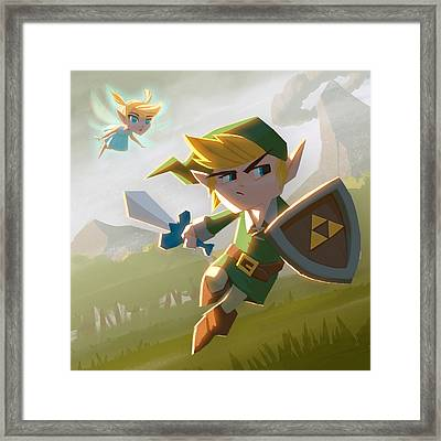 Link Framed Print by Adam Ford