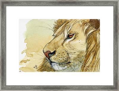 Lion Inspiration  Framed Print by Svetlana Ledneva-Schukina