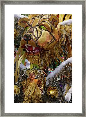 Lion King Of The Band At The Junior Caribana Parade In Toronto 2 Framed Print by Reimar Gaertner
