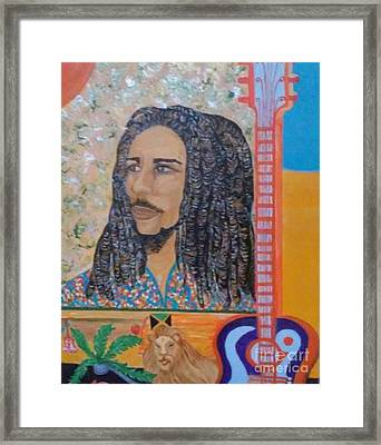 Lion Mon Or Marley's Mantle Framed Print by Vivia Hakala