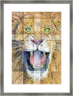 Lion Of Judah Framed Print by Mark Jennings