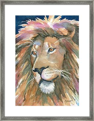 Lion Of Judah Framed Print by Marsha Elliott