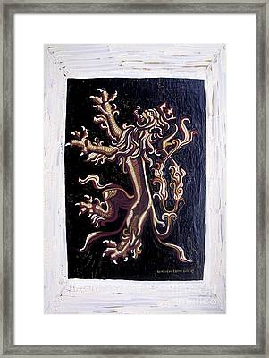 Lion Rampant Framed Print by Genevieve Esson