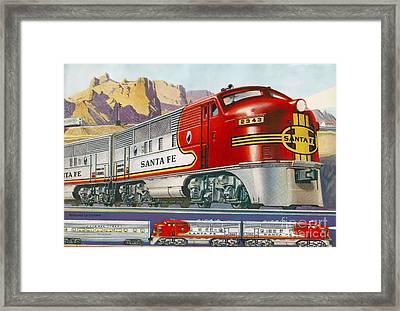 Lionel Train Catalog  Framed Print by Garland Johnson