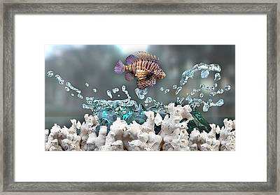 Lionfish Collection Framed Print by Marvin Blaine