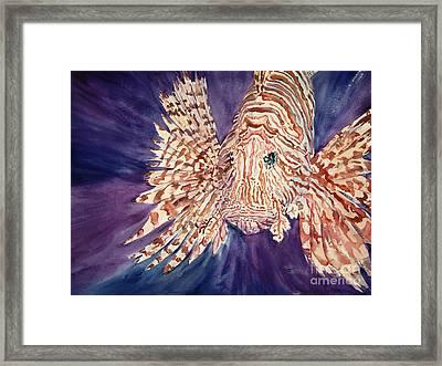 Lionfish Framed Print by Tanya L. Haynes - Printscapes