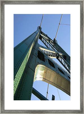 Lions Gate Bridge  Framed Print by Joseph G Holland
