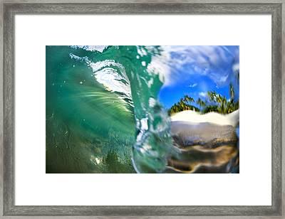 Lip Curl Framed Print by Sean Davey