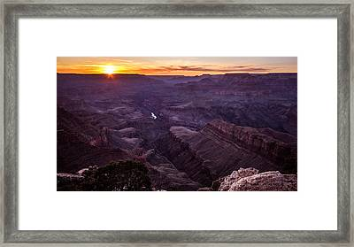 Lipan Point - Grand Canyon, United States - Landscape Photography Framed Print by Giuseppe Milo