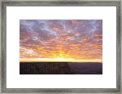 Lipon Point Sunset 3 - Grand Canyon National Park - Arizona Framed Print by Brian Harig