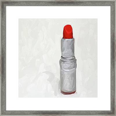 Lipstick I Framed Print by Jai Johnson