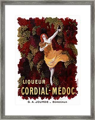 Liqueur Cordial-medoc - Paris 1908 Framed Print by Daniel Hagerman