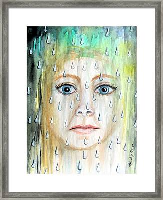 Liquid Catharsis Framed Print by Linda Nielsen