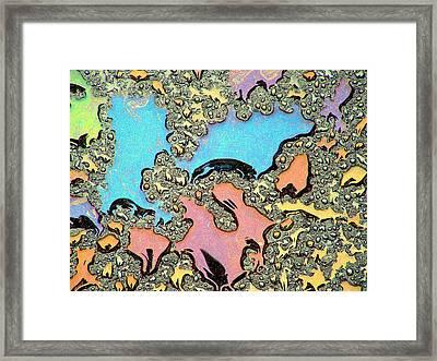 Liquid Color 2 Framed Print by Mark Fuller