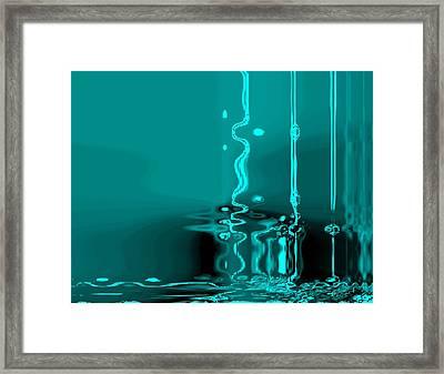 Liquid Love Framed Print by Fania Simon