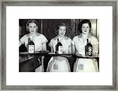 Liquor Is Served - Prohibition Ends 1933 Framed Print by Daniel Hagerman