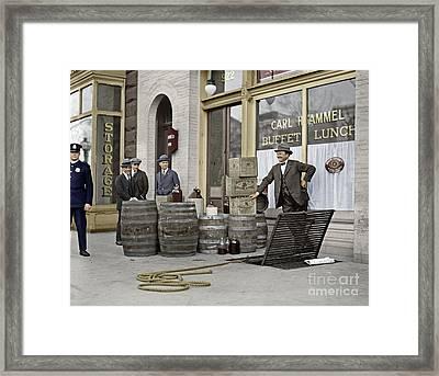 Liquor Raid, 1923 Framed Print by Granger