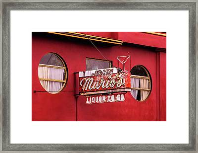 Liquor To Go Framed Print by Art Block Collections