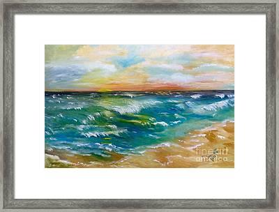 Lisa's Seascape Framed Print by Tina Swindell