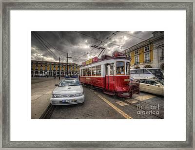 Lisbon Tram Framed Print by Yhun Suarez