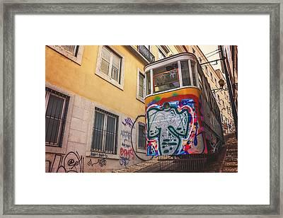 Lisbon's Lively Transport Framed Print by Carol Japp