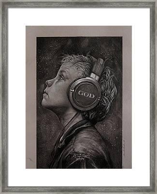 Listen 10 Framed Print by Brent Schreiber