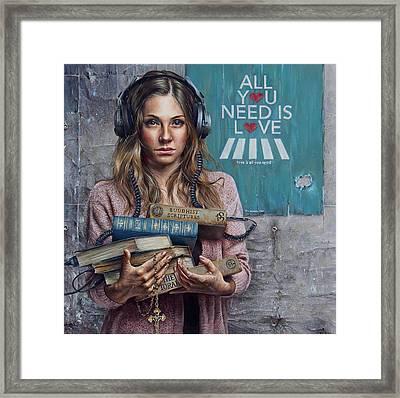 Listen 2 Framed Print by Brent Schreiber