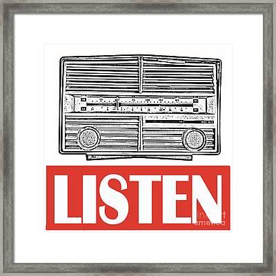 Listen Framed Print by Edward Fielding