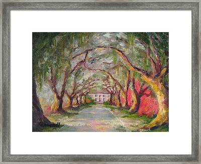 Litchfield Carriage House Framed Print by Cecelia Campbell