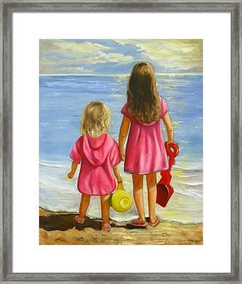 Little Beachcombers Framed Print by Joni McPherson
