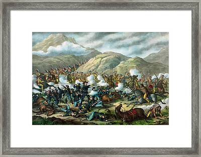 Little Bighorn - Custer's Last Stand Framed Print by War Is Hell Store
