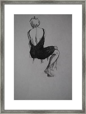 Little Black Dress Framed Print by Chris  Riley