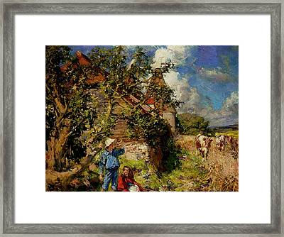 Little Boy Blue And Red Riding Hood Framed Print by MotionAge Designs
