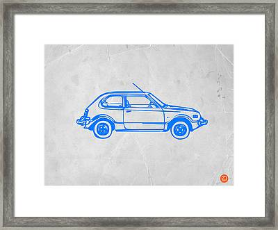 Little Car Framed Print by Naxart Studio
