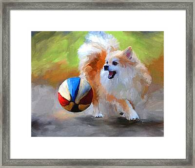 Little Cheerleader Framed Print by Jai Johnson