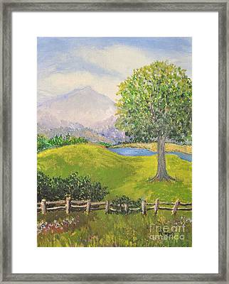Little Country Scene Too Framed Print by Reb Frost