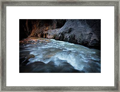 Little Creek Framed Print by Edgars Erglis