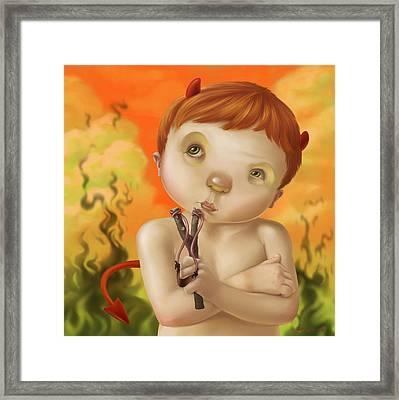 Little Devil Framed Print by Simon Sturge