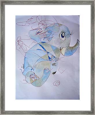 Little Elephant Framed Print by Paulo Zerbato