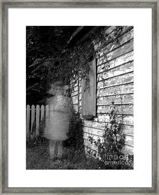 Little Girl Ghost Framed Print by Melissa Wyatt