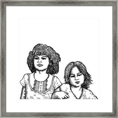 Little Girls Framed Print by Karl Addison
