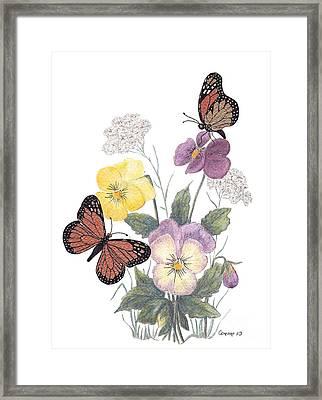 Little Heartsease Framed Print by Stanza Widen
