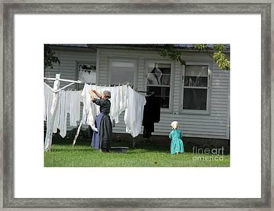 Little Helper Framed Print by Yumi Johnson
